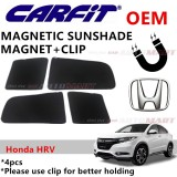 CARFIT OEM Magnetic Custom Fit Sunshade For Honda HRV Yr 2015 (4pcs Sets)